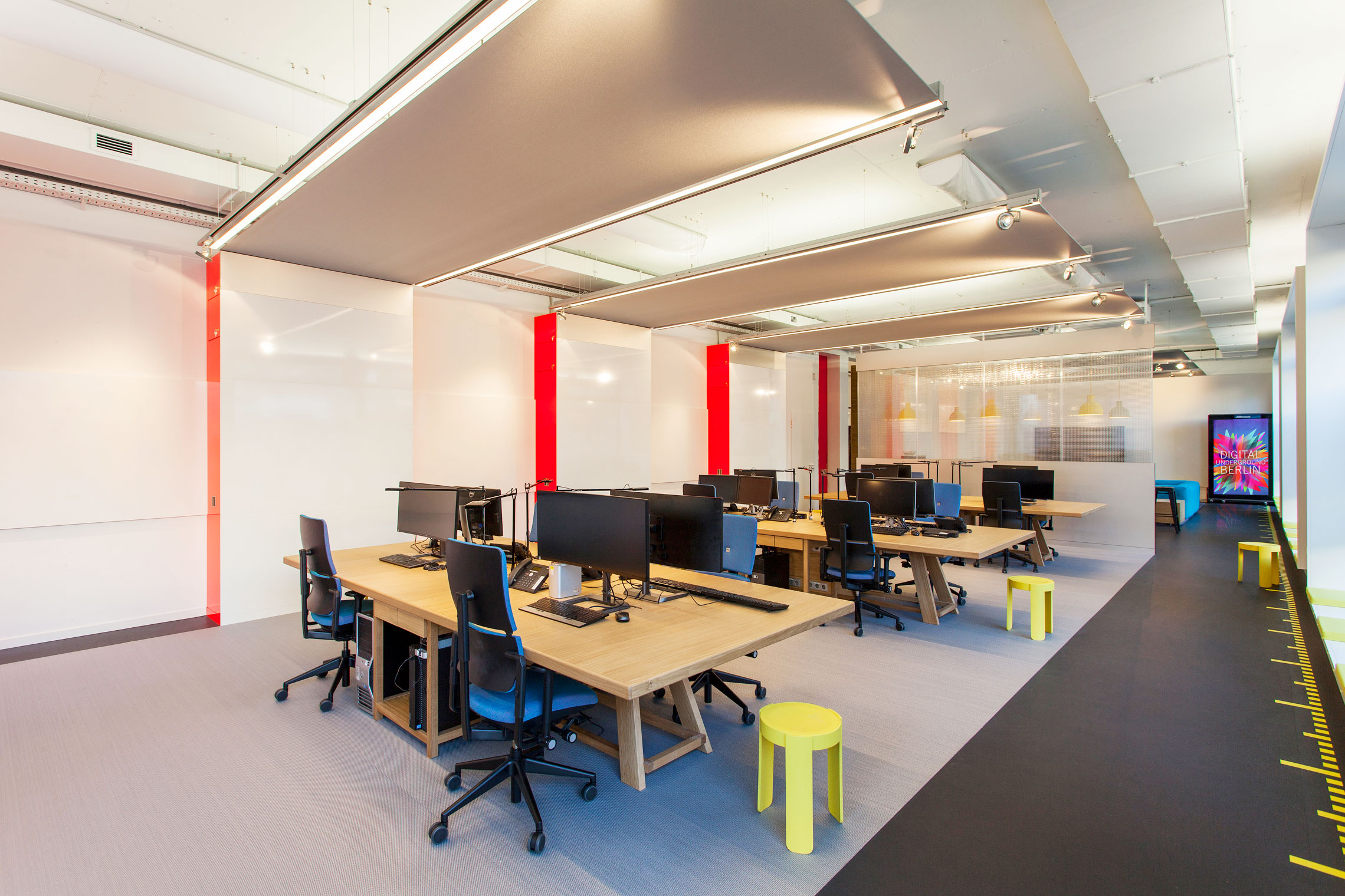 office cubicle lighting. The New Office Of Wall AG Is Successful Counter-draft To Anonymous Cubicle. Cubicle Lighting V